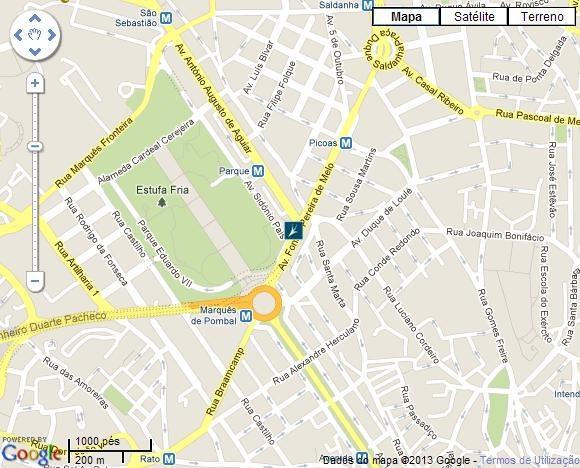 rua pascoal de melo lisboa mapa 7º Fórum Nacional dos Resíduos   Como chegar rua pascoal de melo lisboa mapa